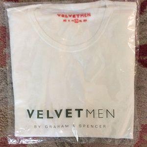 Velvetmen White Henri Tee Size L